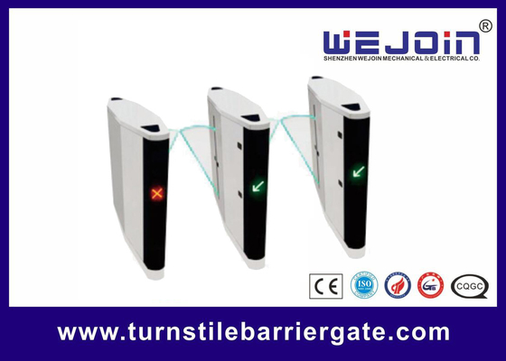 RFID Access Control High Speed ESD Turnstile Flap Barrier Gate