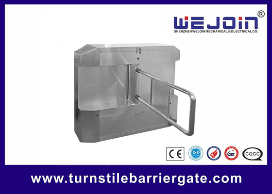 Acrylic plate Arm Turnstile Entry Swing Barrier Gate Systems With Dry Contact Interface