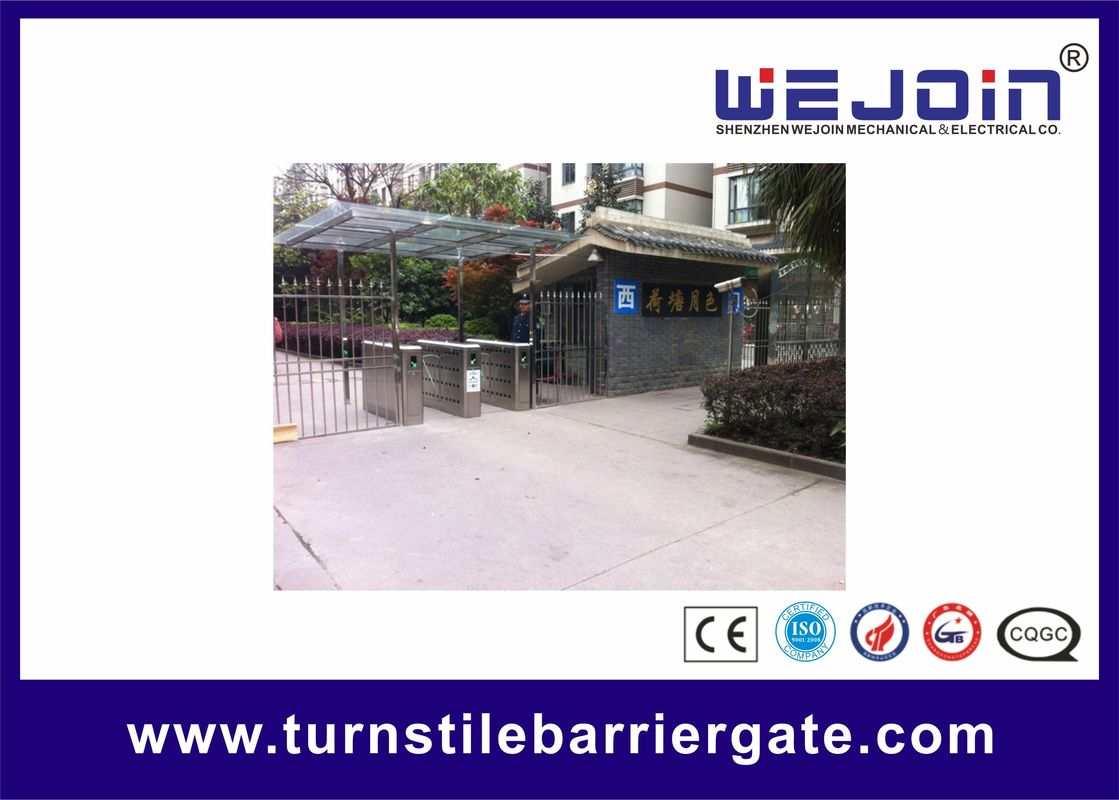 Adjustable Speed Lane Automatic Flap Barrier Gate Entry Turnstiles nhà cung cấp