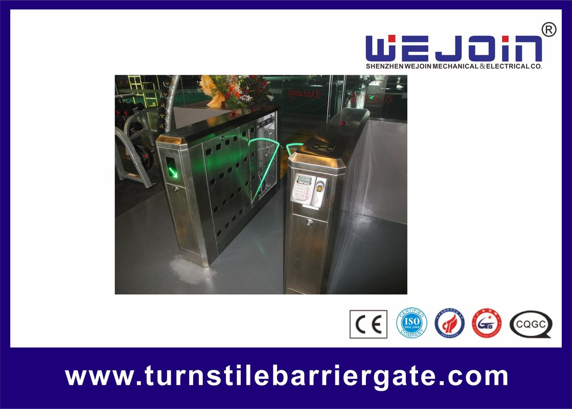900mm Security Flap Barrier Turnstile Entry Systems Bi - direction In Aluminum Alloy nhà cung cấp