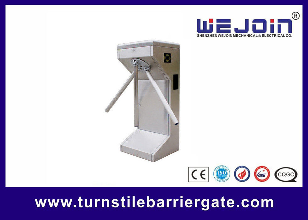 Vertical Type Turnstile Access Control Security Systems For Parking Mangement