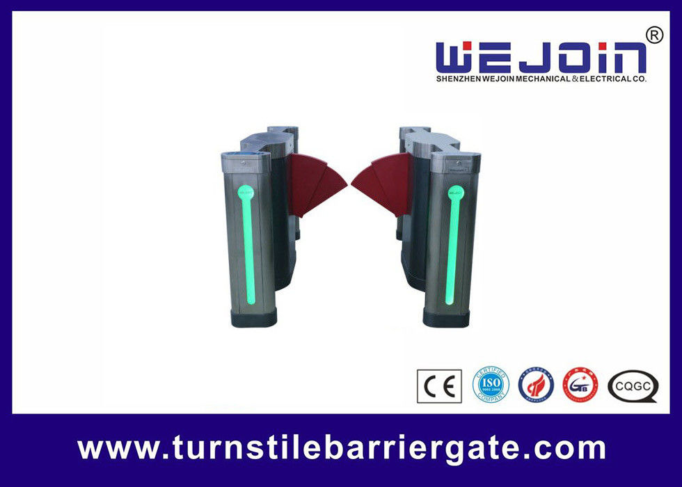 900mm Width Electronic Flap Barrier Gate  /  Pedestrian Automatic Systems Turnstiles