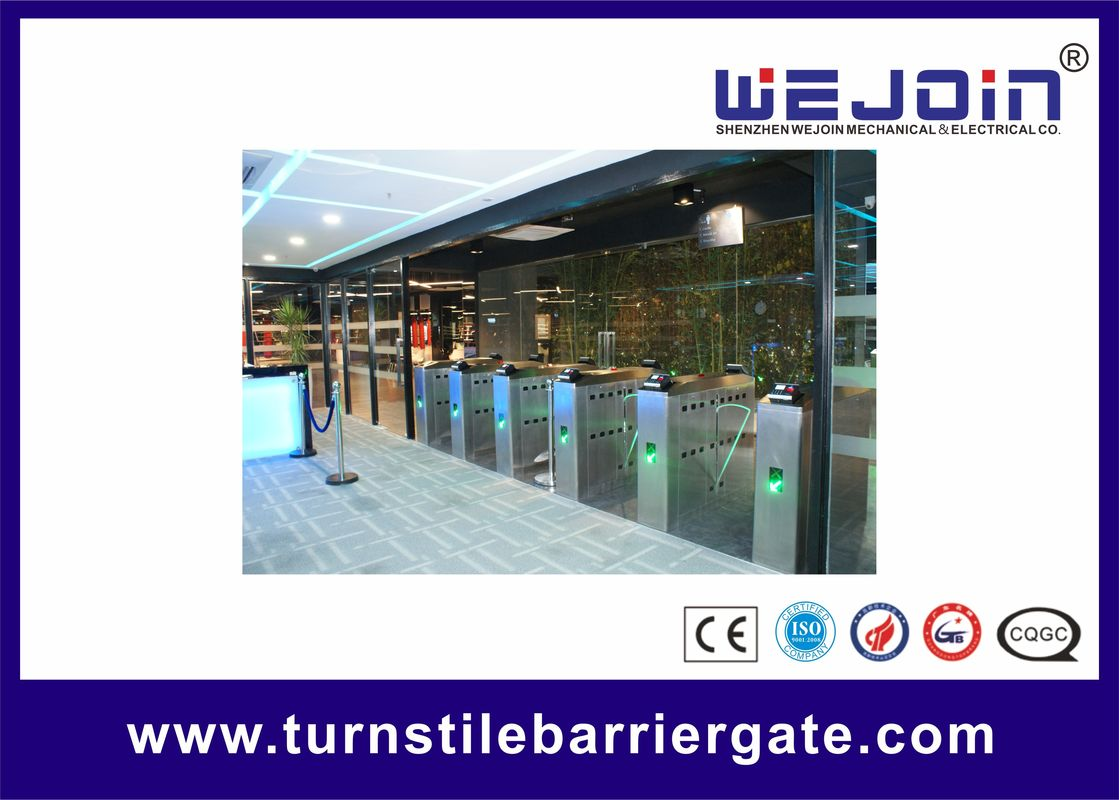 Intelligent Flap barrier integrated with 304 stainless steel Used in Subway Station